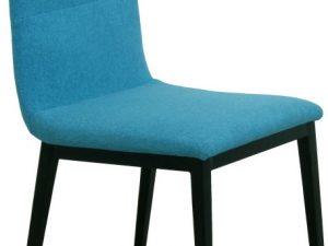 Jídelní židle ASLAN - tyrkysová látka / černý kov