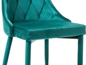 Jídelní čalouněná židle TRIX VELVET zelená