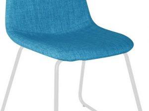 Židle ONTARI - látka modrá / kov