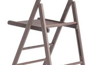 Jídelní skládací židle Roby Tmavě hnědá