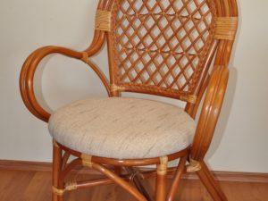 Ratanová židle Bali koňak