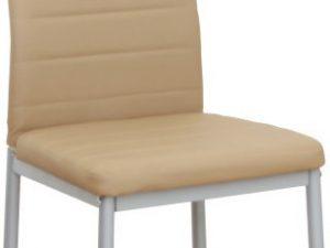 Židle COLETA NOVA - béžová ekokůže