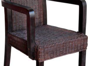 Židle ratan hnědá