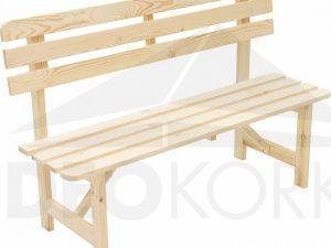 Deokork Masivní dřevěná zahradní lavice z borovice dřevo 22 mm  - Lavice na SEDI.cz