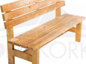 Deokork Masivní dřevěná zahradní lavice TEA 04 o síle 38 mm  - Lavice na SEDI.cz
