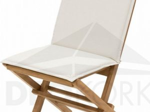 Deokork Zahradní skládací židle s poduškou FOXI (teak)