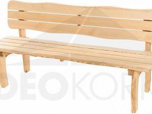 Deokork Masivní zahradní lavice z borovice VIKING (40 mm)  - Lavice na SEDI.cz