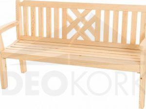 Deokork Masivní zahradní lavice z borovice ROMANTIC (32 mm)  - Lavice na SEDI.cz