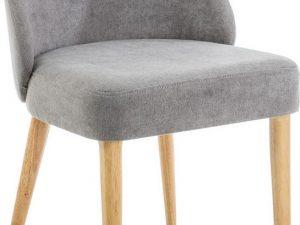 Jídelní čalouněná židle OXI šedá/dub