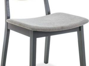 Jídelní čalouněná židle BENITO šedá/dub/grafit