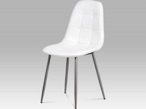Jídelní židle CT-393 WT bílá ekokůže
