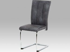 Jídelní židle DCH-192 GREY šedá koženka