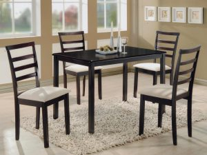 Stůl + 4 židle LIVORNO lak třešeň
