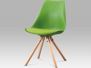 Jídelní židle CT-233 GRN - zelený plast