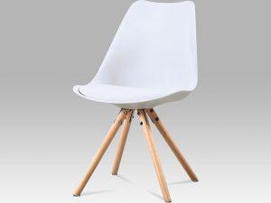 Jídelní židle CT-233 WT - bílý plast