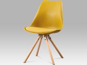 Jídelní židle CT-233 YEL - žlutý plast