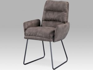 Jídelní židle DCH-256 BR3 - hnědá látka
