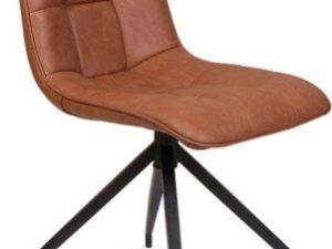 Jídelní čalouněná židle OLAF hnědá