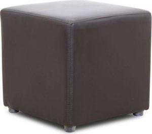 Tempo Kondela Taburet NIKI NEW - tmavě hnědá textilní kůže + kupón KONDELA10 na okamžitou slevu 3% (kupón uplatníte v košíku) - Lavice na SEDI.cz