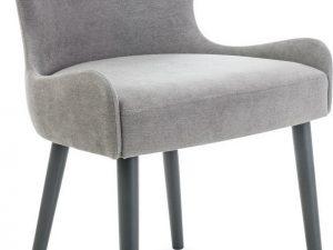 Jídelní čalouněná židle PASSO šedá/grafit