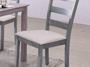 Jídelní čalouněná židle EVO šedá patina