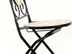 Židle kovová s mozajkou JF2207