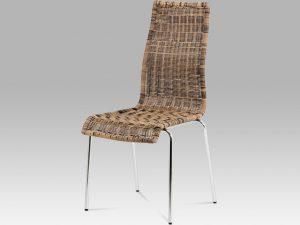 Jídelní židle SF-824 TRI - hnědý umělý ratan