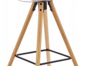 Barová židle H-91 - transparentní/bílá