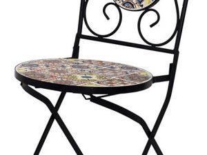 Židle kovová s mozaikou JF2218