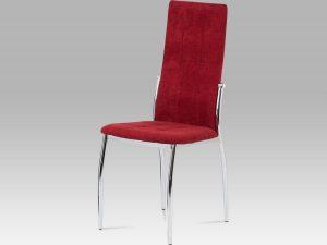 Jídelní židle DCL-213 RED2 červená látka