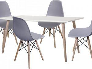 Jídelní stůl GÖTEBORG 50 + 4 židle UNO šedé