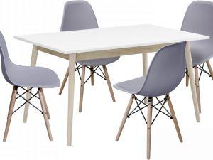 Jídelní stůl NATURE + 4 židle UNO šedé