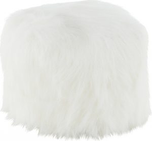 Tempo Kondela Taburet AZENE - umělá kožešina bílá + kupón KONDELA10 na okamžitou slevu 3% (kupón uplatníte v košíku) - Lavice na SEDI.cz