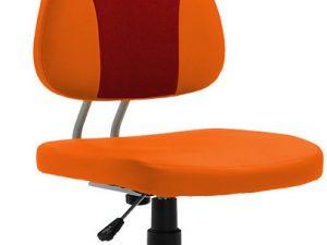 Dětská rostoucí židle RANDAL - oranžová / červená