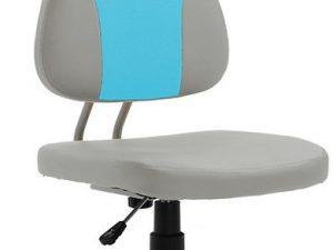 Dětská rostoucí židle RANDAL - šedá / modrá