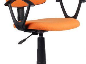 Kancelářská židle TAMSON - oranžová / černá