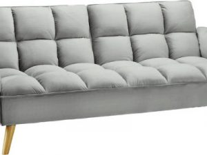 Rozkládací pohovka KAPRERA - světle šedá/buk