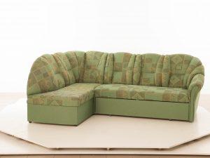 Rohová sedací souprava MODENA LUX ROH+O (žinylka) Pravá - candelwood zelená doprodej