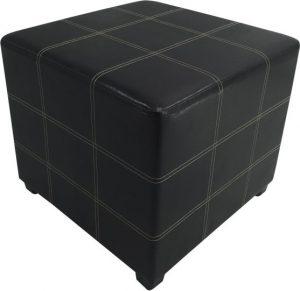 Tempo Kondela Taburet NELA NEW - černá textilní kůže + kupón KONDELA10 na okamžitou slevu 3% (kupón uplatníte v košíku) - Lavice na SEDI.cz