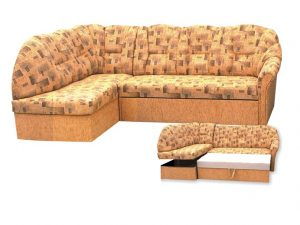 Rohová sedací souprava MODENA LUX ROH+O (žinylka) Pravá - columbus oranžová