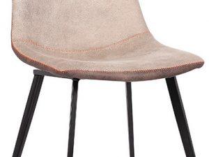 Jídelní židle DOTS - béžová / hnědá