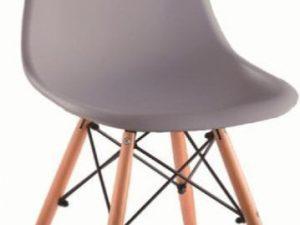 Židle CINKLA 3 NEW - šedá / buk