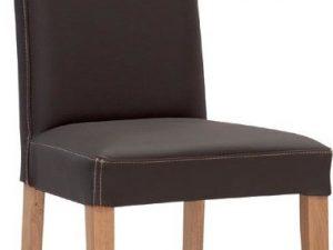 Jídelní židle Nancy dub/kůže kůže bianco