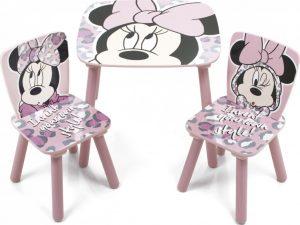 Dětský stůl s židlemi Minnie Mouse - růžový