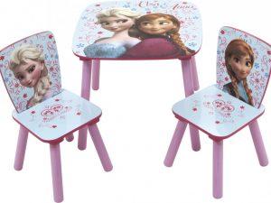 Dětský stůl s židlemi Frozen - fialovo-modrý