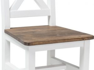 Židle Poprad hnědý vosk/bílá