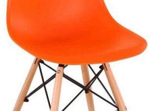 Židle CINKLA 3 NEW - oranžová / buk
