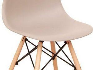 Židle CINKLA 3 NEW - teplá šedá / buk