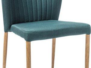 Jídelní čalouněná židle POLLY zelená/dub
