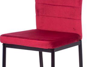 Jídelní židle AC-9910 RED4 - červená látka samet